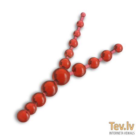 Анальные шарики 3-in-1 Anal Beads (1228) red