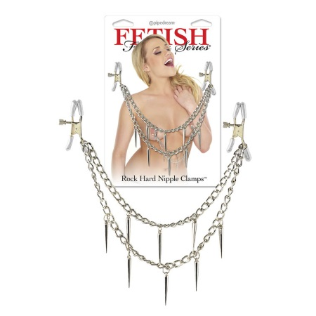 Fetish fantasy series (0528) Rock hard nipple clamps