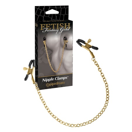 Fetish fantasy Nipple clamps (0976) gold