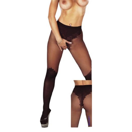 Roxana [L-XL] (1399) tights with open crotch