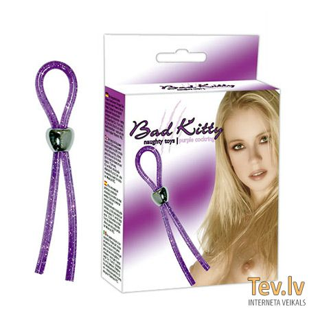 Erekcijas gredzens (-ni) Bad Kitty (0447) purple cockring
