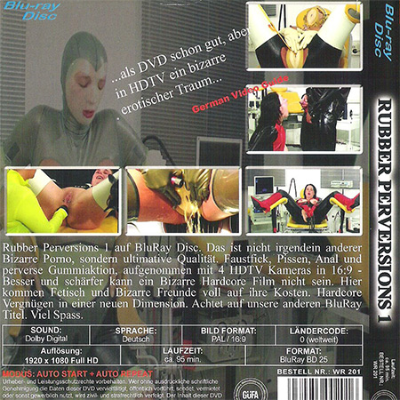 Rubber perversions 1 (1000-3) Blu-ray disc