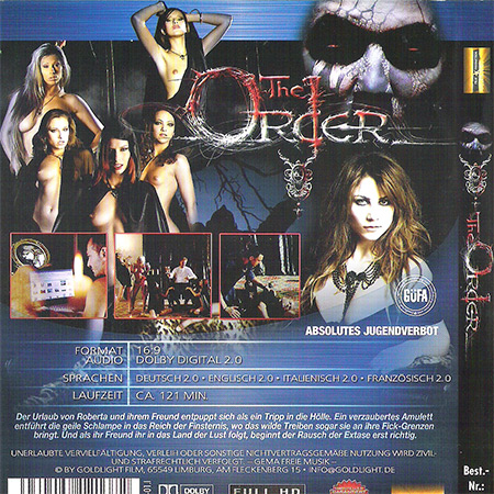 The order (1000-4) Blu-ray disc
