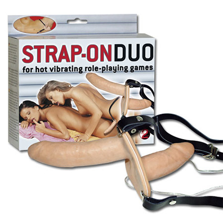 Strap on duo (0437) for hot vibrating role-playing games