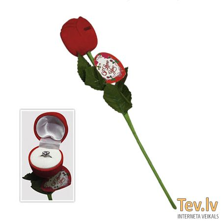 Роза с сюрпризом I Love You Rose (0866) with Ring